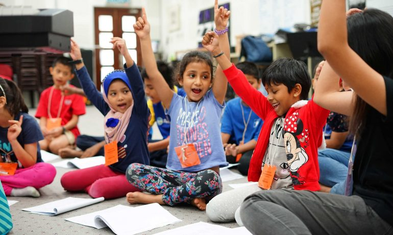 Team of lecturers bring Malaysian and Rohingya kids together through the arts